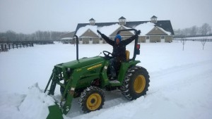 Reese tractor snow